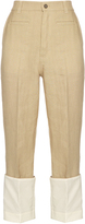 Loewe Fisherman low-slung linen boyfriend jeans