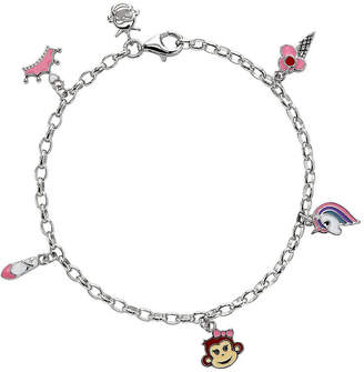 FINE JEWELRY Nana's Crazy Monkeys Children'S Sterling Silver Charm Bracelet