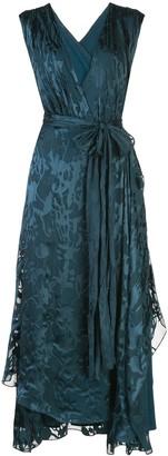 Dvf Diane Von Furstenberg Wet Look Wrap Dress