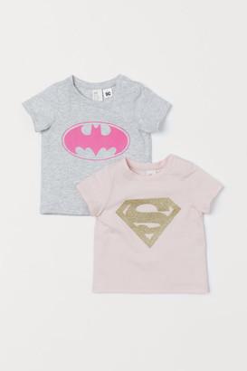 H&M 2-pack motif-detail T-shirts
