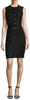 Rachel Roy Chiffon Panel Embellished Sheath Dress