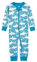 Hatley Shark Alley Organic Cotton Fitted One-Piece Pajamas