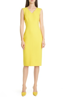 Michael Kors Wool Blend Sheath Dress