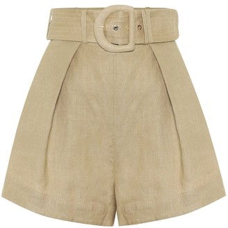 Zimmermann Exclusive to Mytheresa Linen shorts