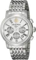 Brooks Brothers Men's SILGC001 Chronograph Collection Analog Display Automatic Self Wind Watch