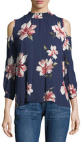 Collective Concepts Cold-Shoulder Floral-Print Blouse