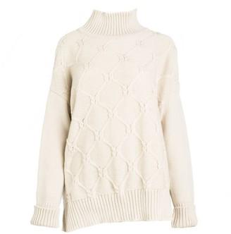 Woolish Kai Boxy High Neck Merino Sweater White