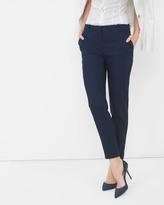 White House Black Market Linen-Blend Slim Ankle Pants