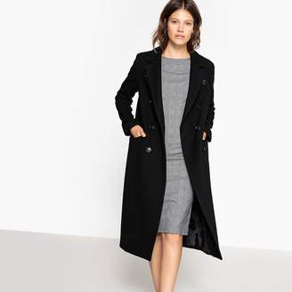 La Redoute Collections Double-Breasted Duster Coat in Wool Mix