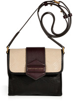 Black and Tan Multicolor Crossbody Bag