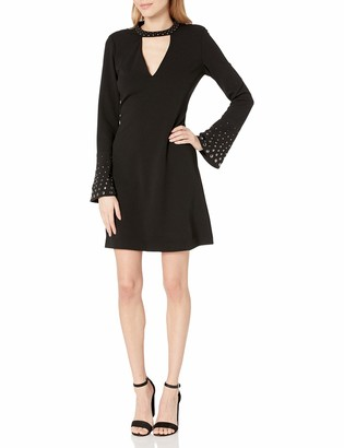 Rachel Roy Women's Embellished SLV Fit and Flare