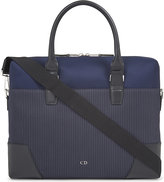 Dior Homme Pinstripe Canvas Briefcase