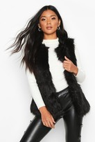 boohoo Vanessa Faux Fur Gilet black
