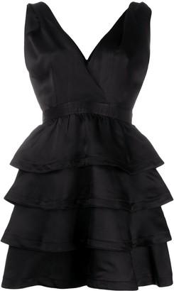 Sandro Raquel ruffle mini dress