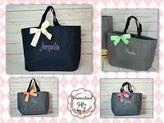 Etsy 8 Bridesmaid Gift- Personalized Bridemaid Tote - Wedding Party Gift - Maid of Honor-Personalized Br