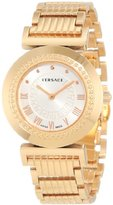 Versace Women's P5Q80D001 S080 Vanity Collection Rose Gold IP Silver Dial Bracelet Watch