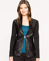 Le Château Leather Collarless Jacket