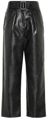 Self-Portrait Self Portrait High-rise wide-leg leather pants