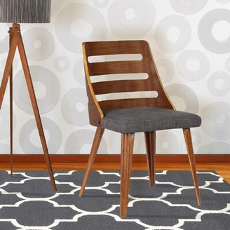 Langley StreetTM Thurman Solid Wood Dining Chair Langley Street Upholstery: Charcoal