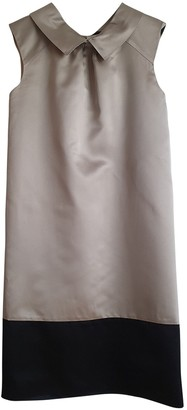Vera Wang Beige Silk Dress for Women