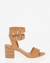 Le Château Leather-Like Ankle Cuff Sandal
