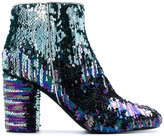 Pollini embellished booties - women - Calf Leather/Leather/PVC - 37