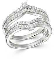 Bloomingdale's Diamond Chevron Ring Guard in 14K White Gold, 0.60 ct. t.w. - 100% Exclusive