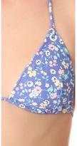 Shoshanna Charlotte Ronson for Vintage Floral Eyelet Triangle Bikini Top