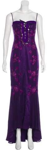 Ungaro Embellished Sleeveless Gown