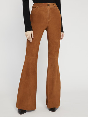 Alice + Olivia Brent High Waisted Suede Pant