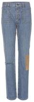 Saint Laurent Patchwork Straight-leg Jeans