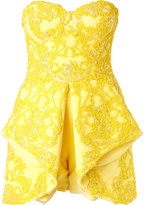 Mikael D. - strapless embellished playsuit - women - Silk - 40
