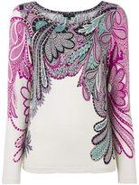Etro paisley print T-shirt - women - Spandex/Elastane/Viscose - 44