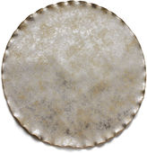 Dransfield and Ross Round Wave-Edge Place Mat, Silver Leaf
