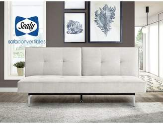 "Sealy Anson 79"" Armless Sleeper Sofa Convertibles Body Fabric: Cozy Sand Polyester Blend"