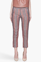 See by Chloe Orange and blue twill cropped linen Trousers