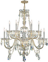 Crystorama Traditional Crystal 12-Light Crystal Chandelier Iii