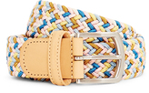Andersons Anderson's Woven Belt Pink & Blue