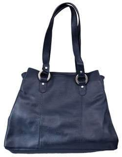 Piel Leather THREE COMPARTMENT LEATHER TOTE