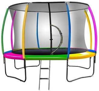Kahuna Rainbow 12ft Trampoline With Mat Pad Net Ladder-