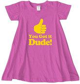 Urban Smalls Fuchsia 'Dude!' Swing Dress - Toddler & Girls