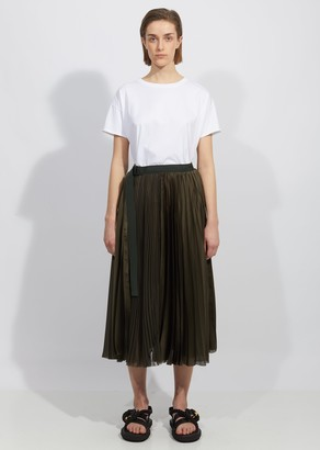 Sacai Solid Satin Skirt