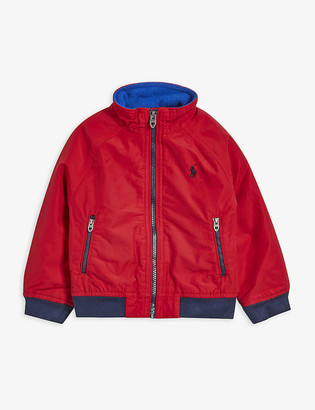 Ralph Lauren Logo-embroidered cotton-blend windbreaker jacket 2-14 years
