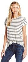 Vince Women's Striped Linen Jersey T-Shirt