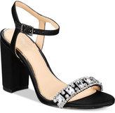 Badgley Mischka Hendricks Block-Heel Evening Sandals