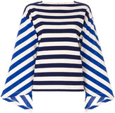 Golden Goose Deluxe Brand striped colour-block top