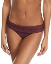 Heidi Klein Monaco Fold-Over Pintucked Swim Bottoms