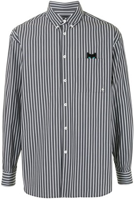 ZZERO BY SONGZIO Panther pinstripe shirt