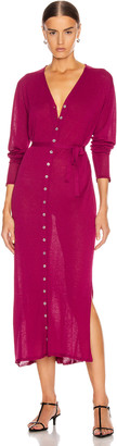 Lemaire Cardigan Dress in Magenta | FWRD