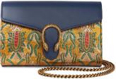 Gucci Dionysus Metallic Brocade And Leather Shoulder Bag - Gold